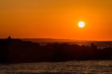 A delightful sunset on the seashore