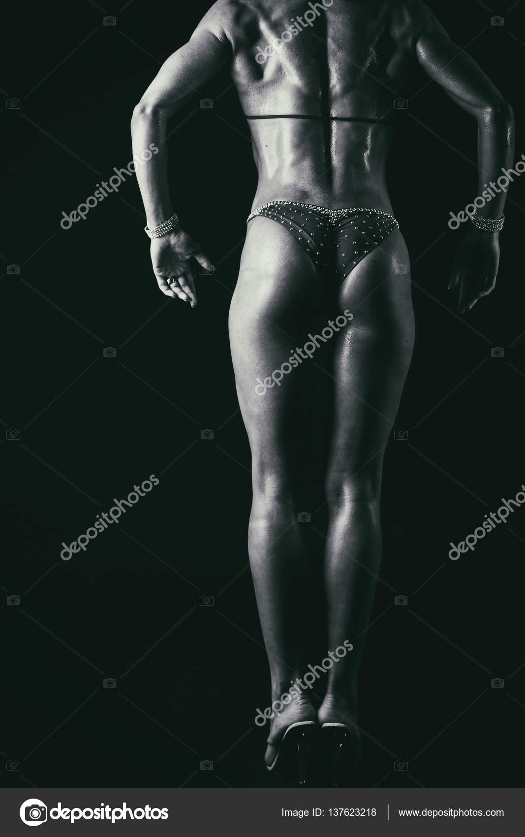 beautiful athletic ass close-up — stock photo © aallm #137623218