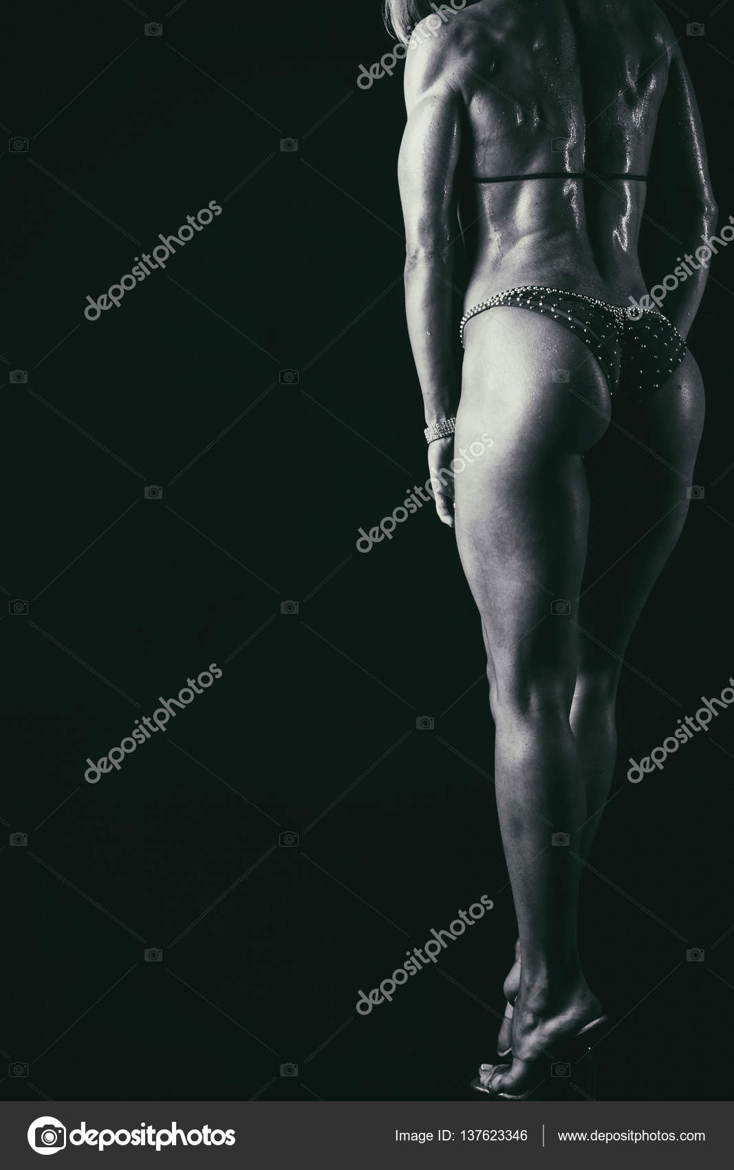 beautiful athletic ass close-up — stock photo © aallm #137623346
