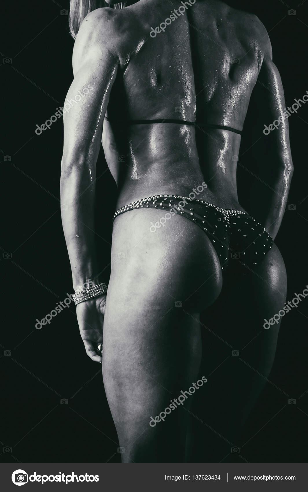 beautiful athletic ass close-up — stock photo © aallm #137623434