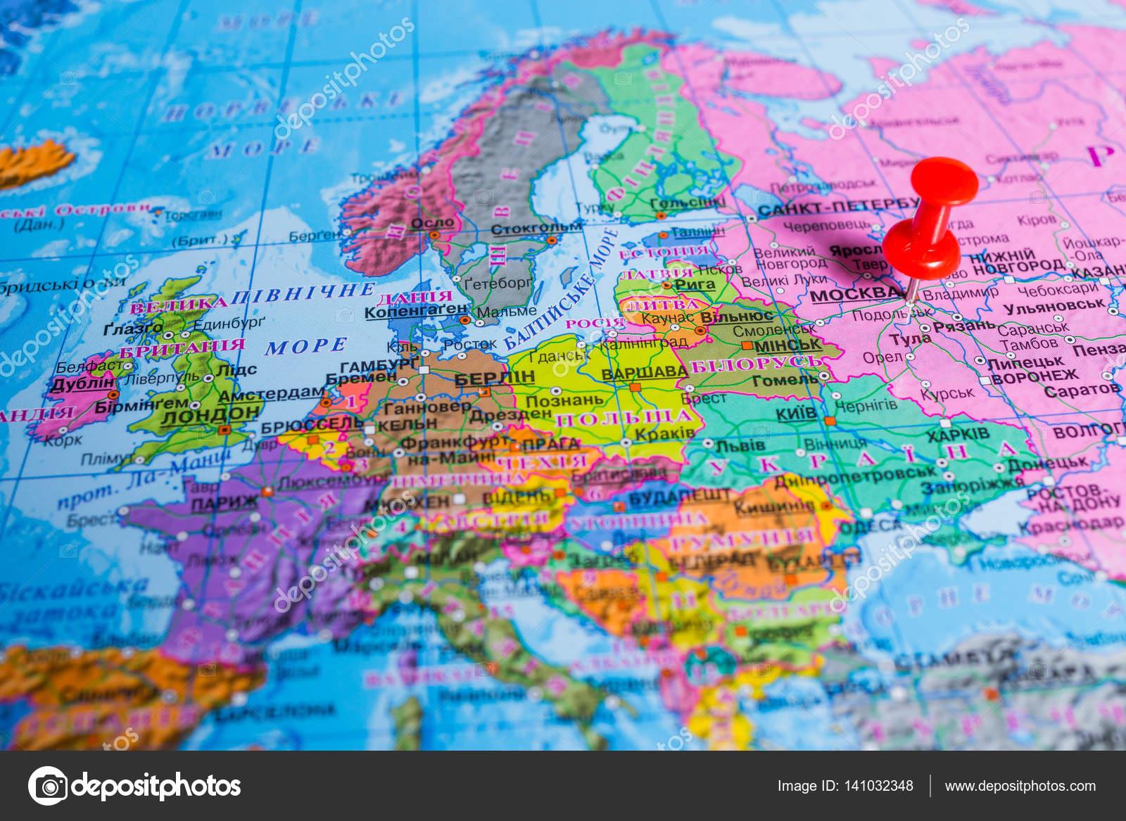 Vinnitsa Ukrajina 6 Prosince 2016 Mapa Sveta Abstraktni Ba
