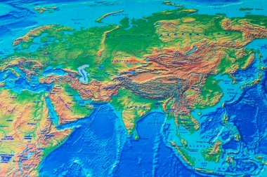 Physical world map background