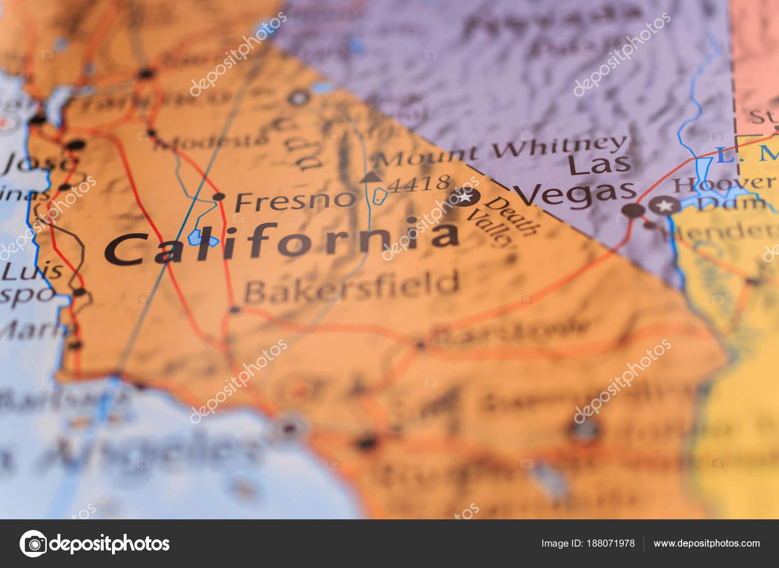 California World Map Stock Photo C Aallm 188071978