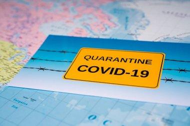 World Coronavirus Covid-19 Quarantine  background