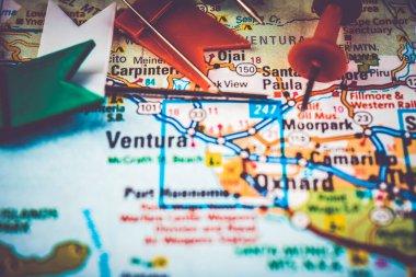 Ventura Usa map tarvel background