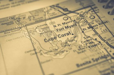 Cape Coral on USA map