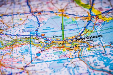 New Orleans on USA map