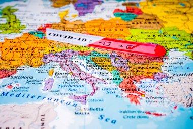 Europe map Coronavirus Covid-19 Quarantine