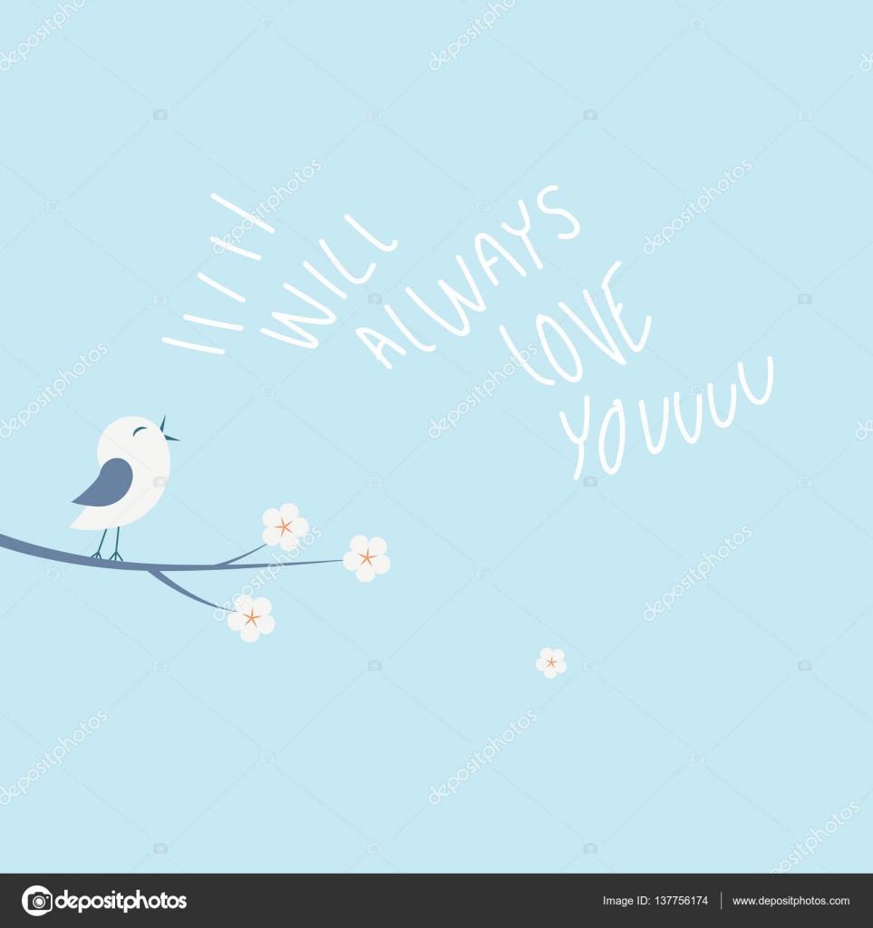 Valentinstag Liebe Karte Vektor Illustration Konzept Mit Kleinen