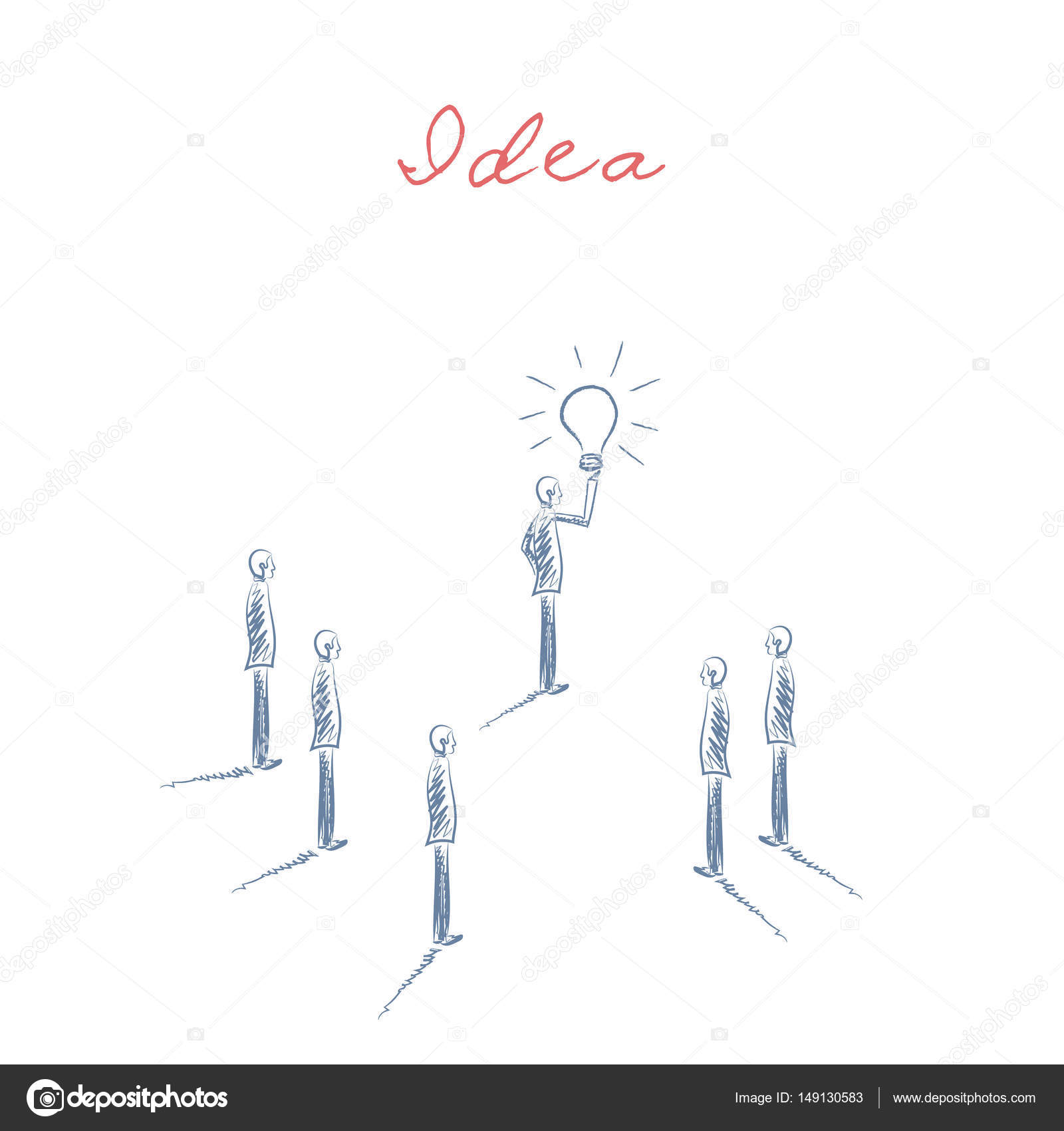 Business creativity concept vector with businessman holding
