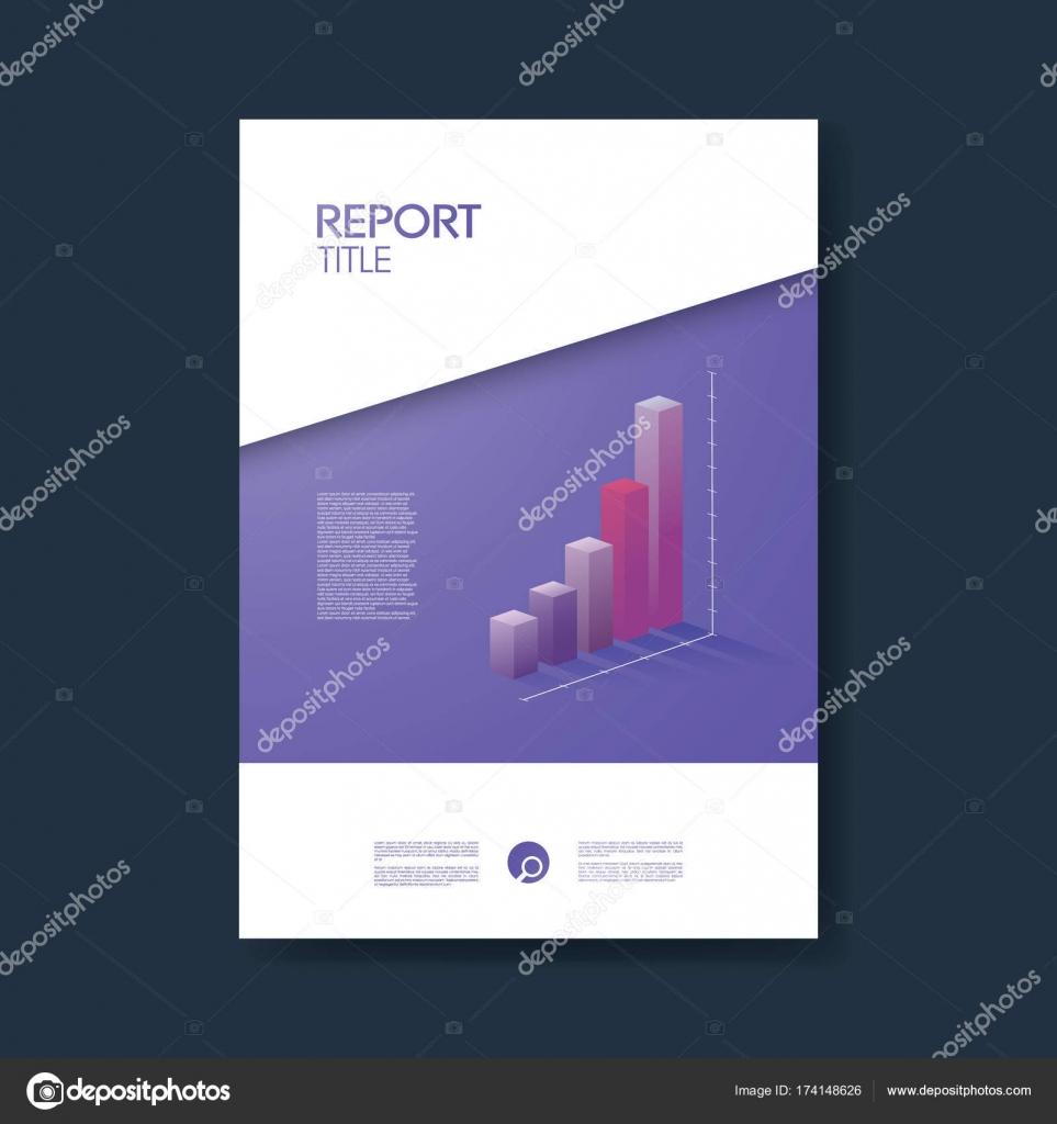Plantilla de cubierta negocio informe con gráficos de diseño 3d ...