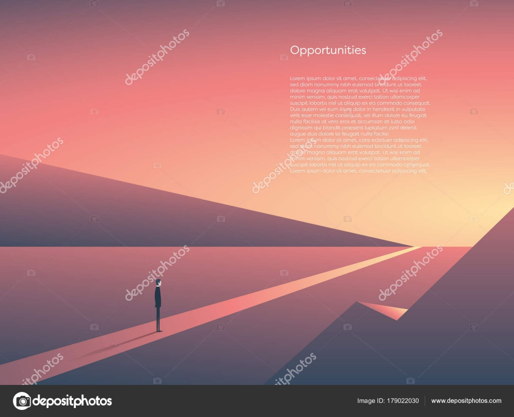 Business vector concept of new beginnings opportunity and business vector concept of new beginnings opportunity and adventure symbol of career change start goals eps10 vector illustration vector by micicj buycottarizona Choice Image