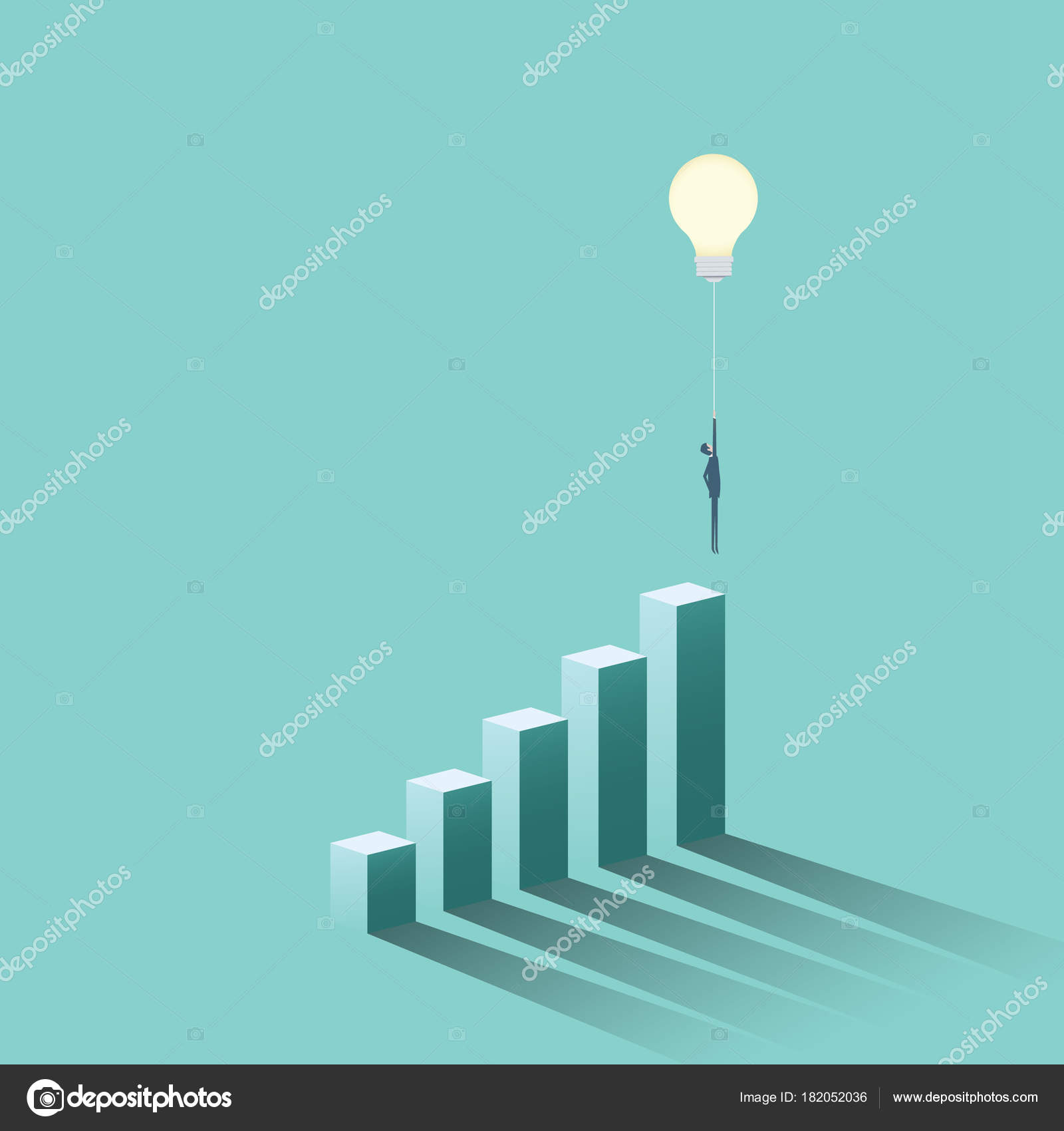 Creative idea business solution vector concept with businessman ...