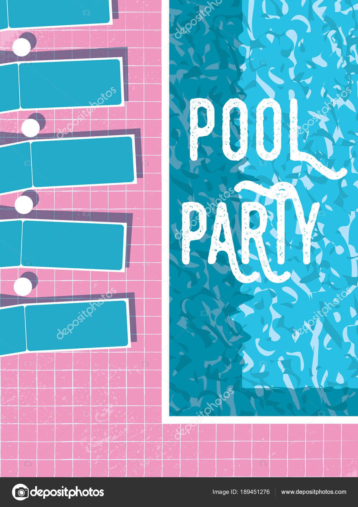 Sommer Pool Party Einladung Plakat, Flyer Vektor Vorlage mit ...