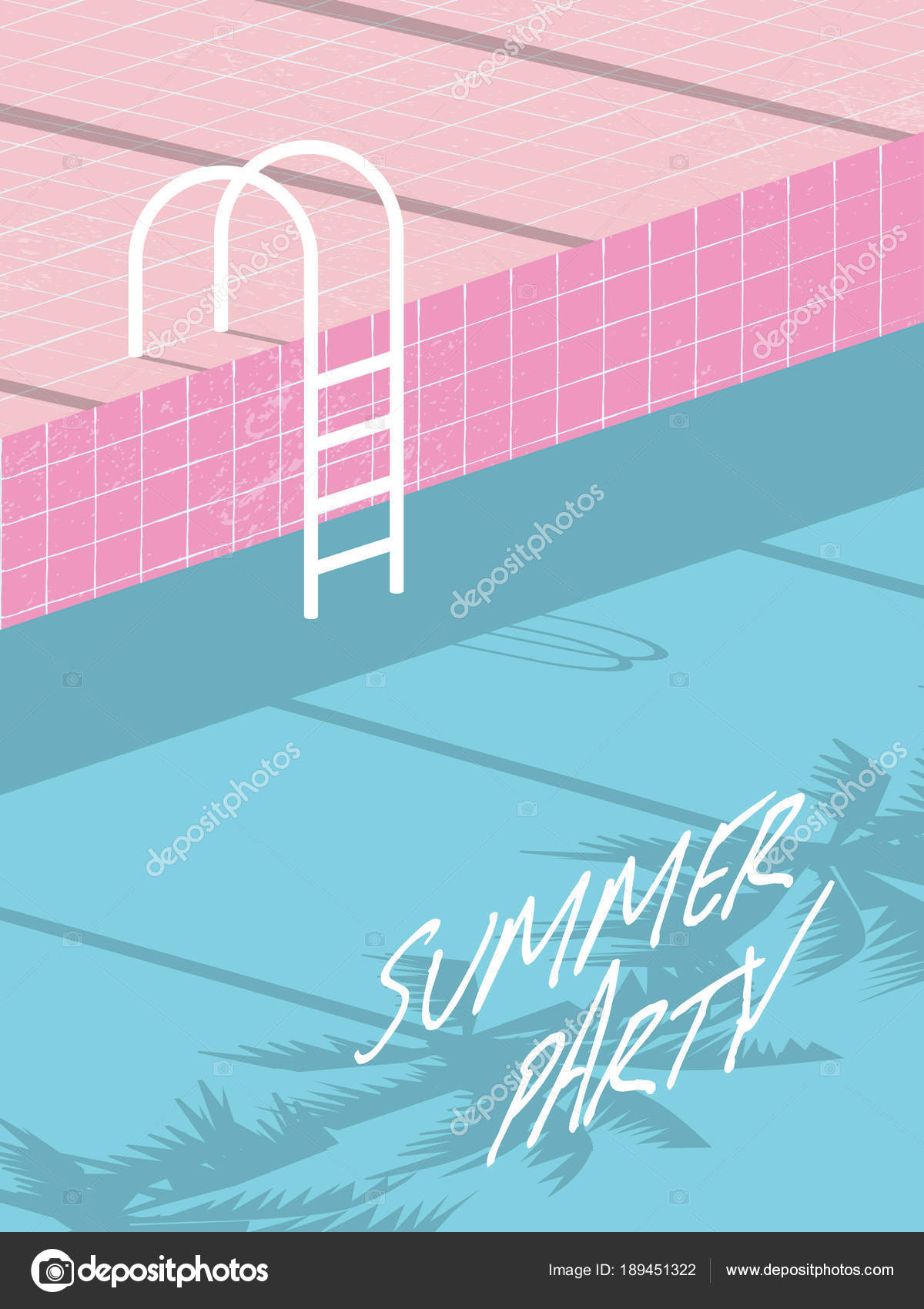 Summer pool party invitation flyer, poster, template, banner with ...