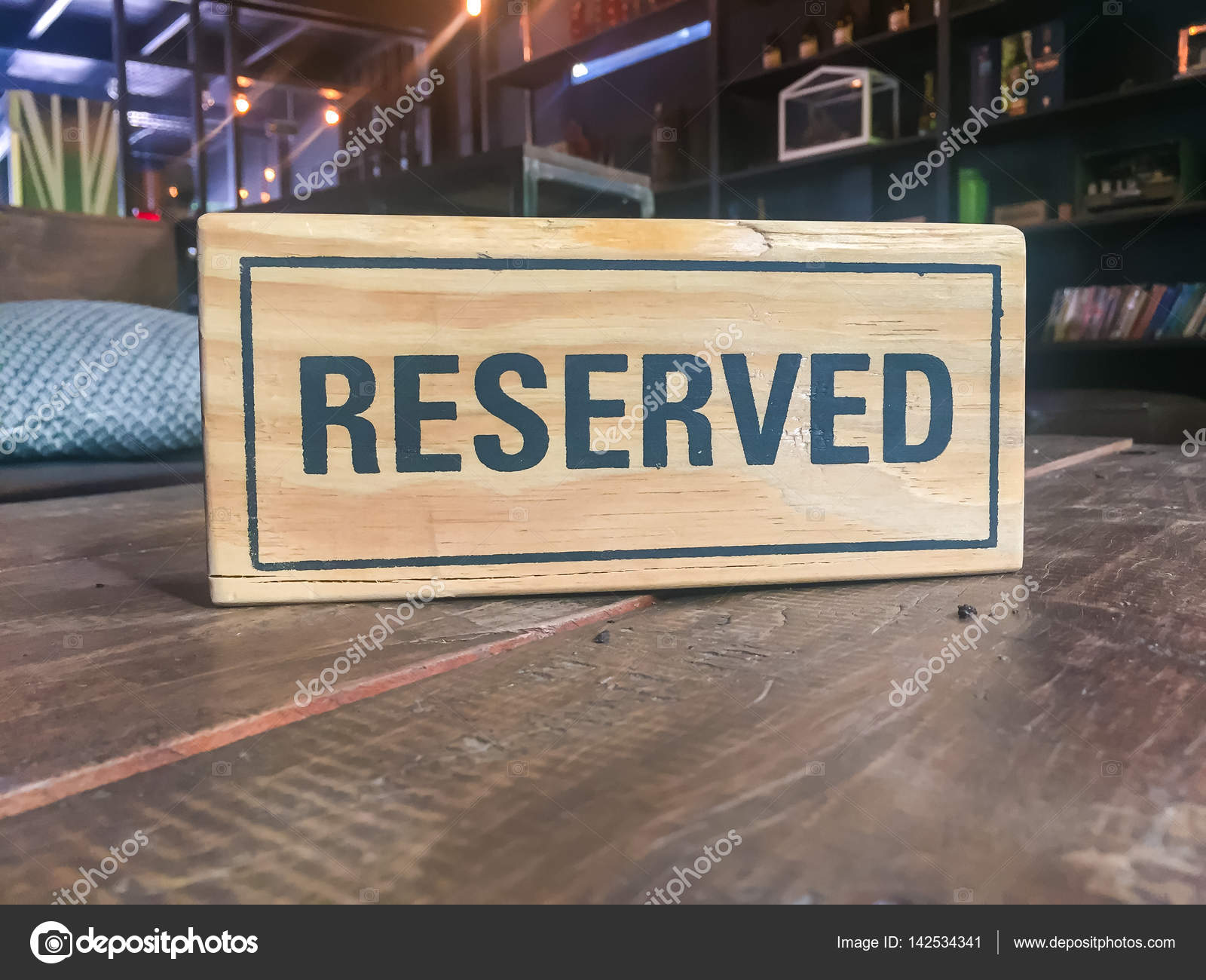 Signs Reservation On The Table Stock Photo Watcharapol - Restaurant table signs