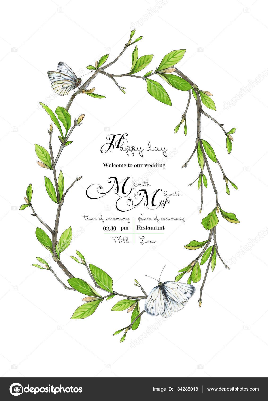 template congratulations invitations wedding green colors