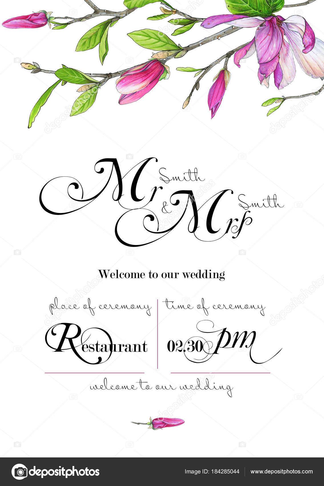 template congratulations invitations wedding green pink colors