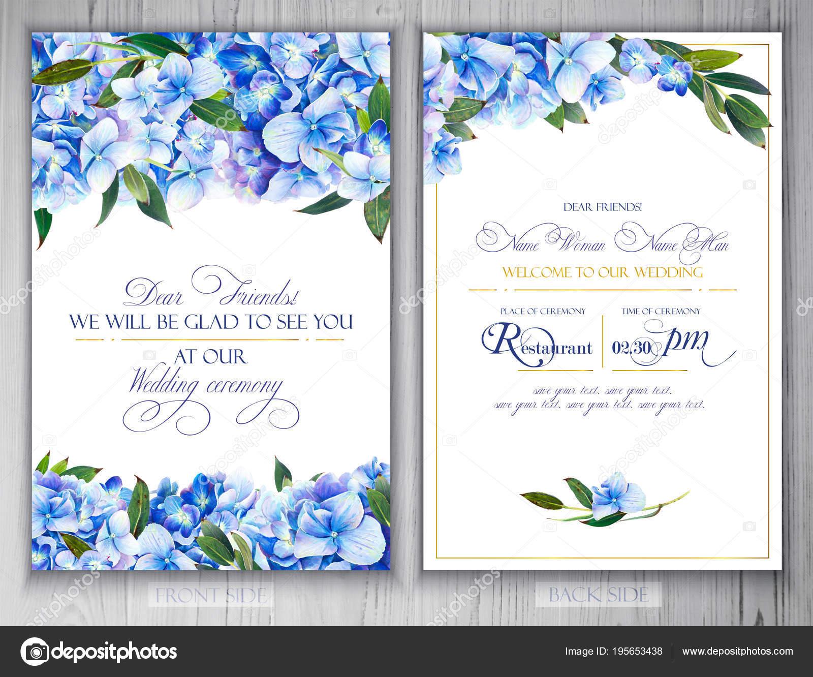 set templates greetings invitations wedding illustration markers