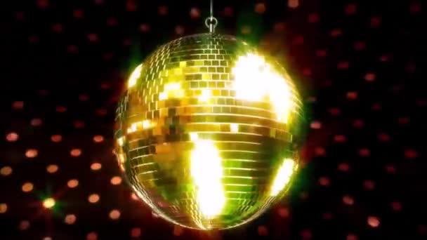 Kiváló színes csillogó mennyezet party klub funky disco labda villogó fényes lámpa forgó hurok animáció