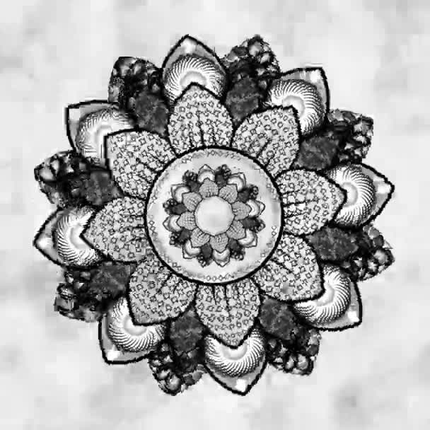 mandala on the cloudy background