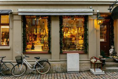 Window of the vintage Christmas shop in Gothenburg, Sweden