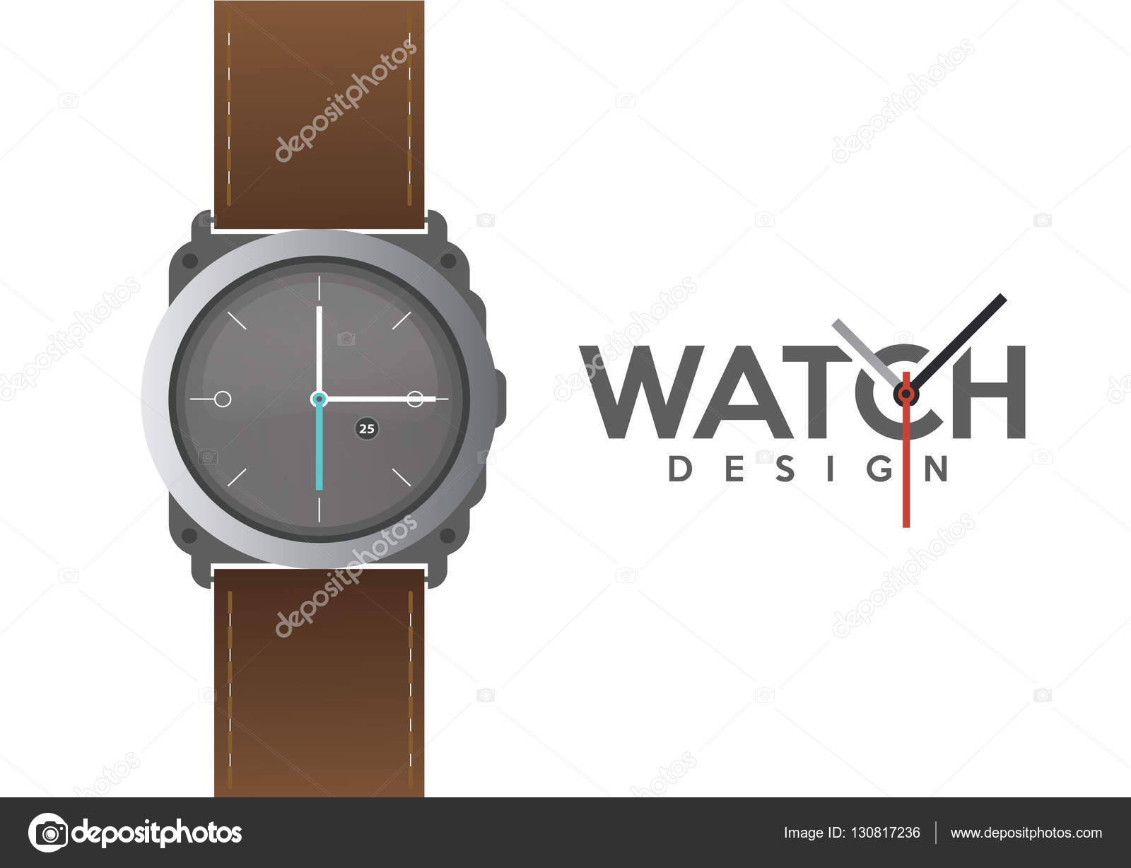 wristwatch with strap design template stock vector sky designs