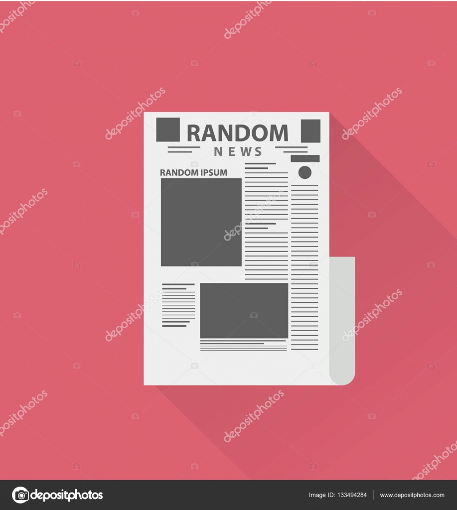 blank newspaper template stock vector sky designs 133494284