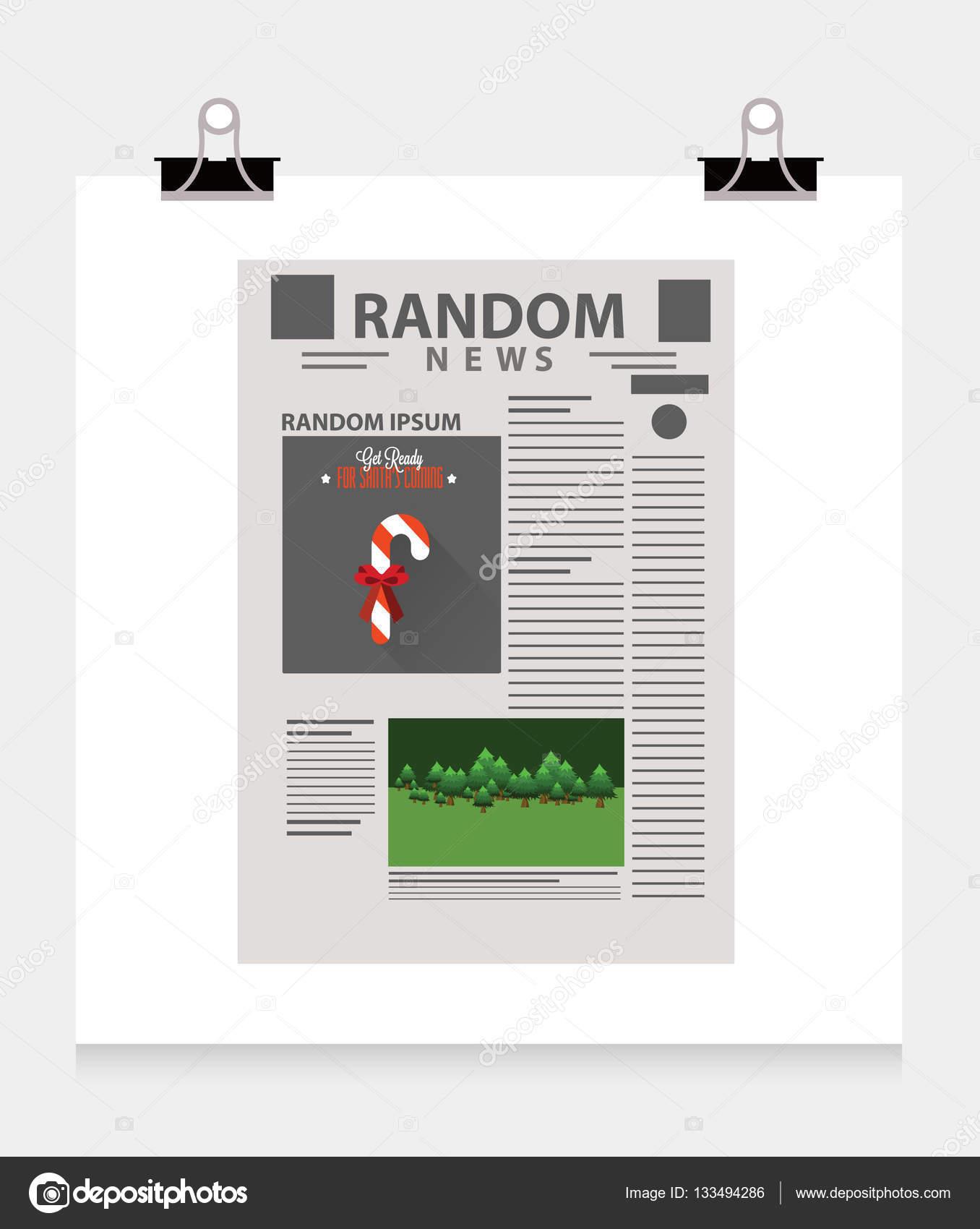 plantilla de periódico con bastón de caramelo — Archivo Imágenes ...