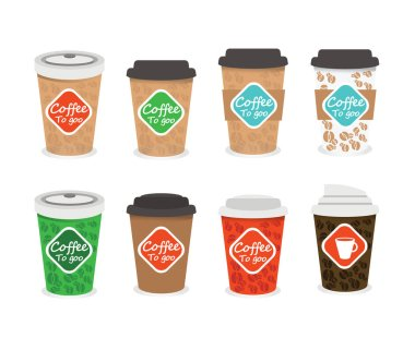 Paper cups coffee
