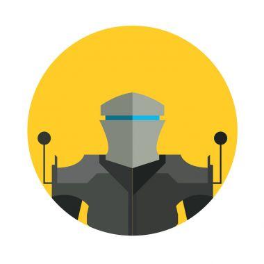 Robot character icon