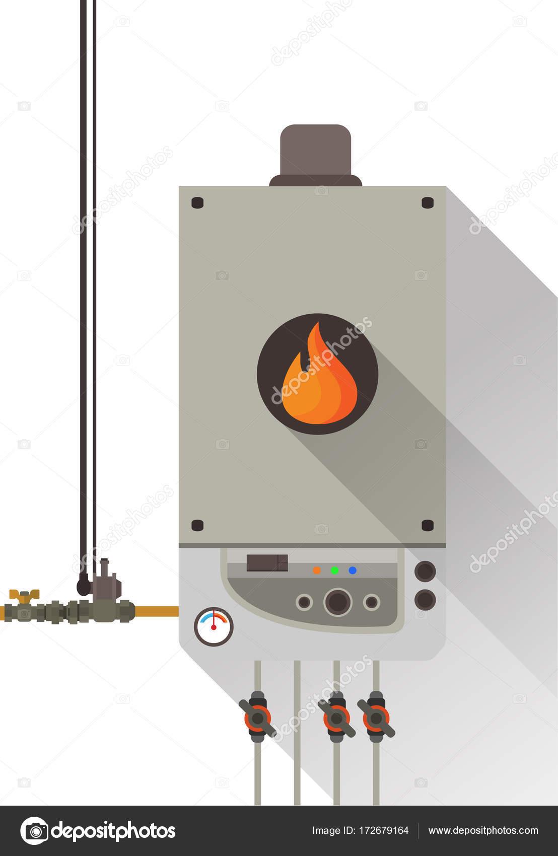 Gas-Kesselanlage mit Röhren — Stockvektor © Sky-Designs #172679164