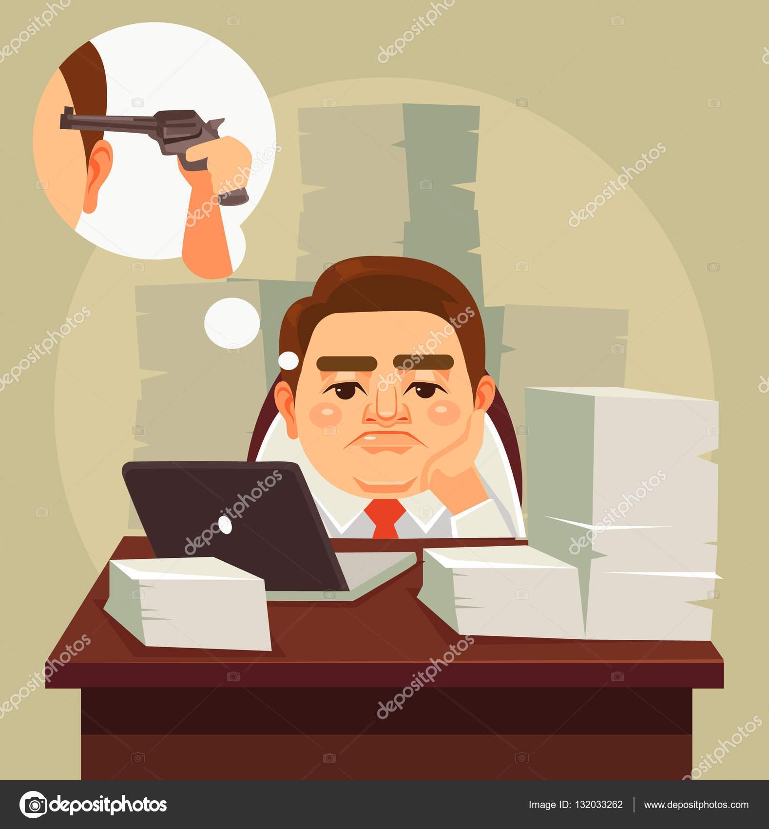 Trabalho duro cansado o caráter de homem trabalhador de ...