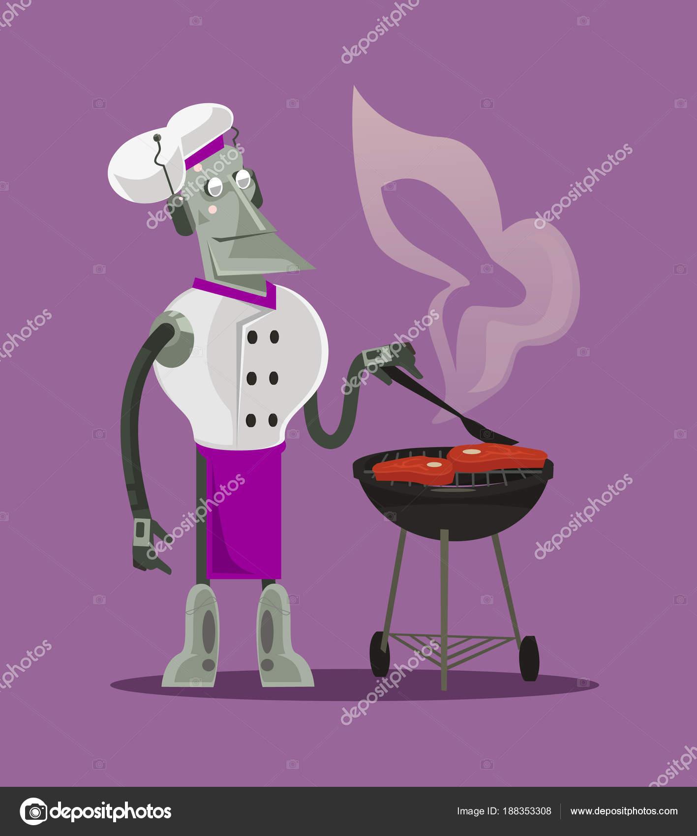 Carattere Macchina Chef Cucina Intelligente Robot ...