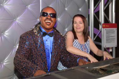 Stevie Wonder at the Madame Tussauds  Wax Museum Las Vegas NV, USA 09-3018 better known by his stage name Stevie Wonder, is an American singer, songwriter, musician and record producer.