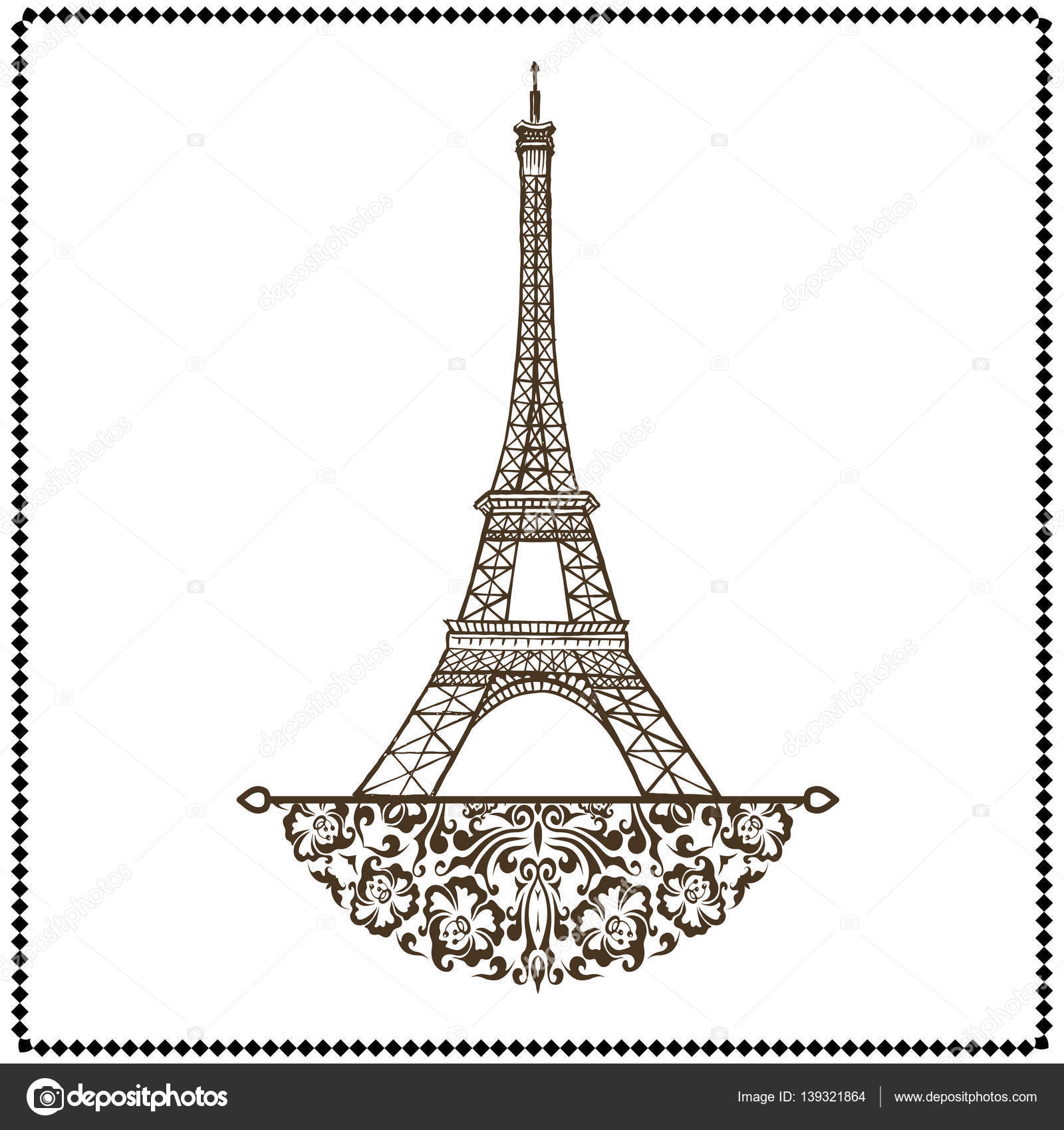Eiffel tower vector stock vector nemetse 139321864 vector eiffel tower isolated hand drawn illustration vector by nemetse thecheapjerseys Gallery