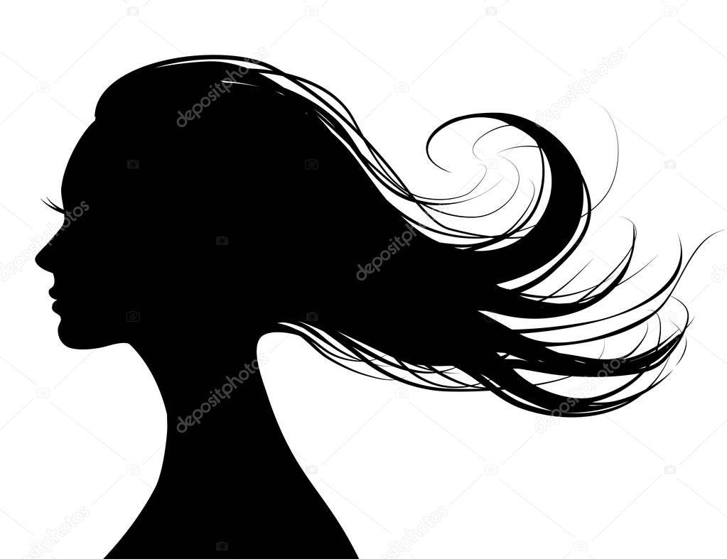 Woman Hair Style Silhouette Premium Vector In Adobe Illustrator Ai Ai Format Encapsulated Postscript Eps Eps Format