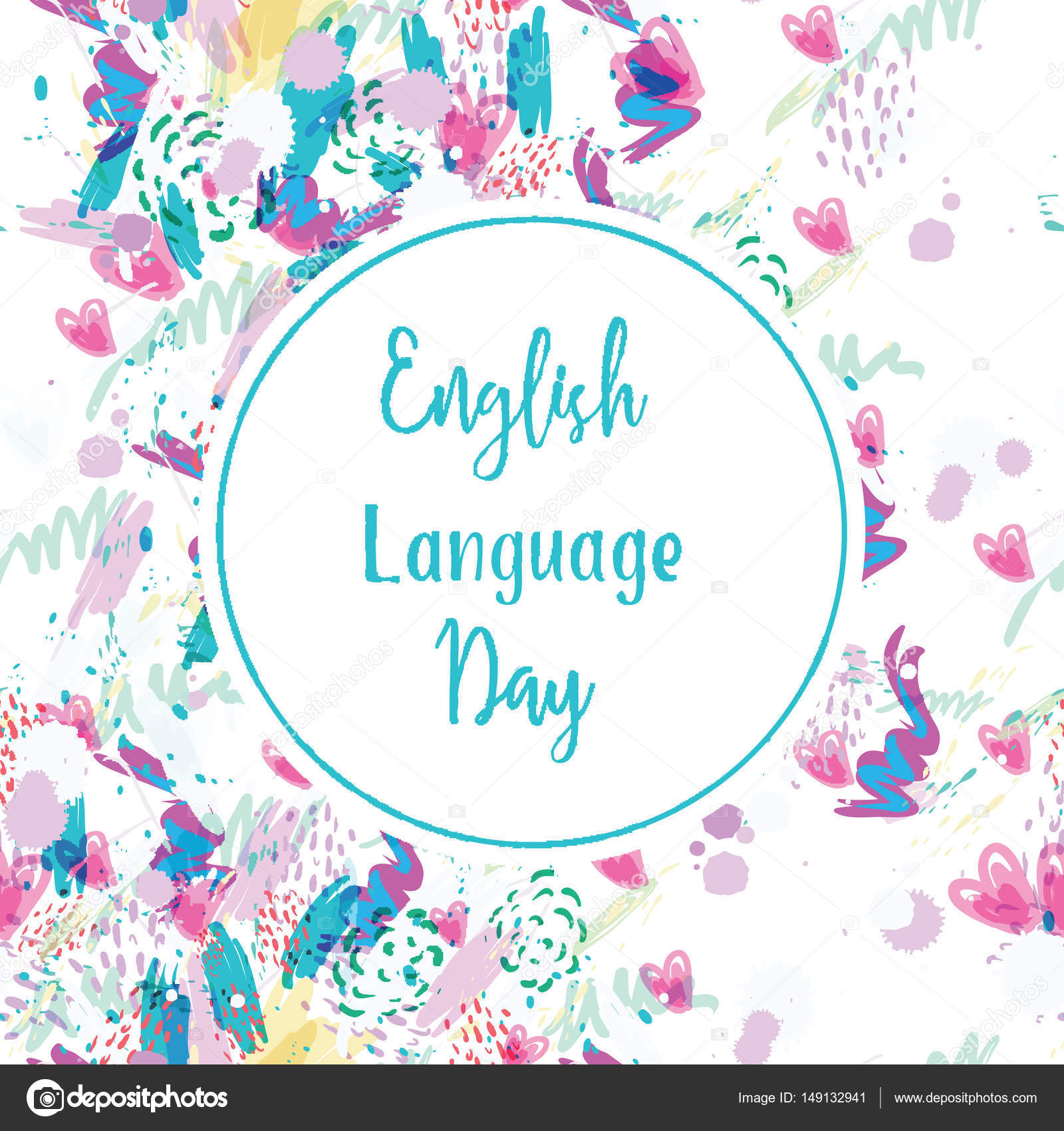 Greeting card of english language day stock vector rasveta greeting card of english language day stock vector m4hsunfo