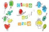 Grußkarte vom Cinco de Mayo Tag