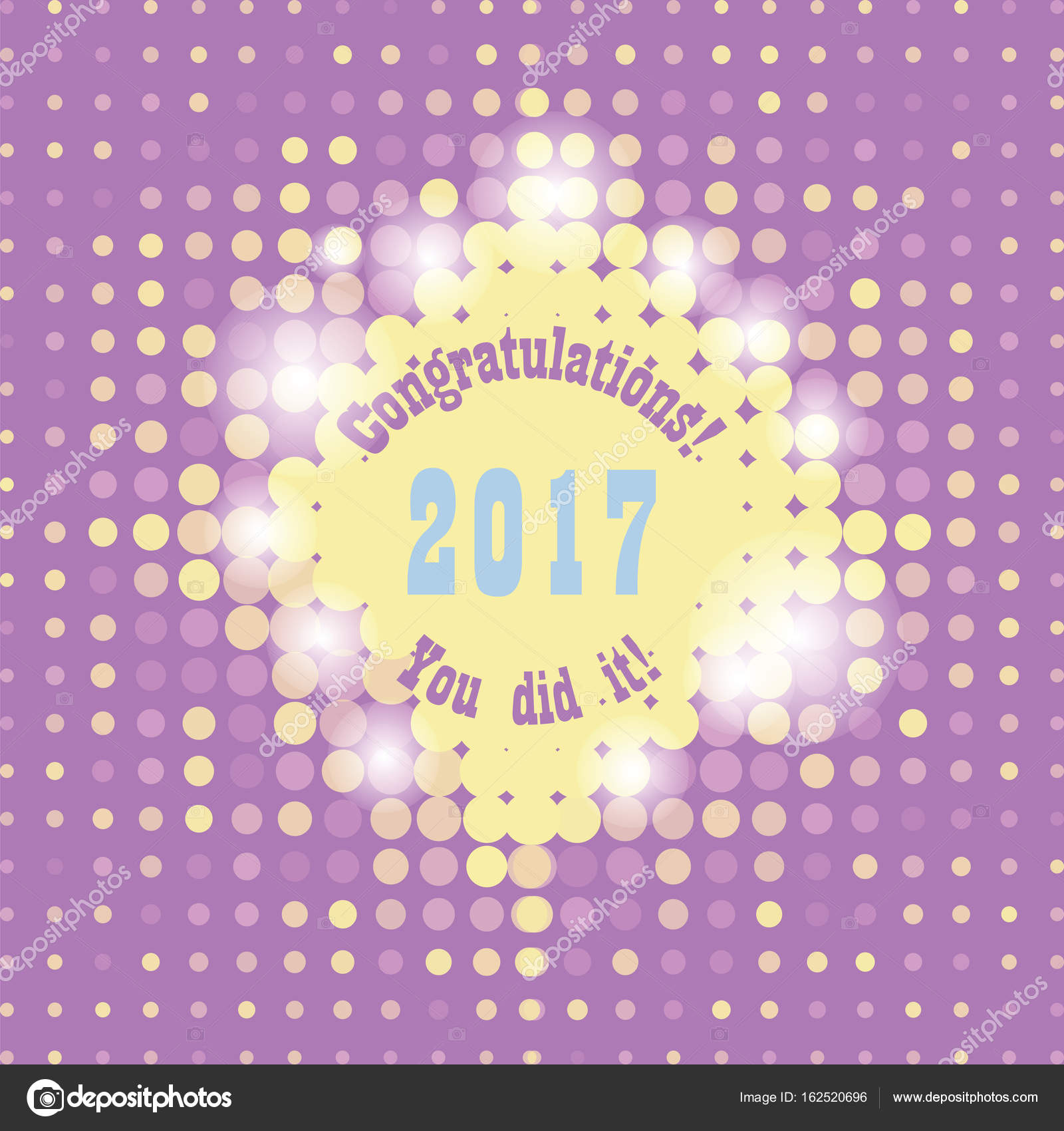 greeting card with congratulations graduate completion stock