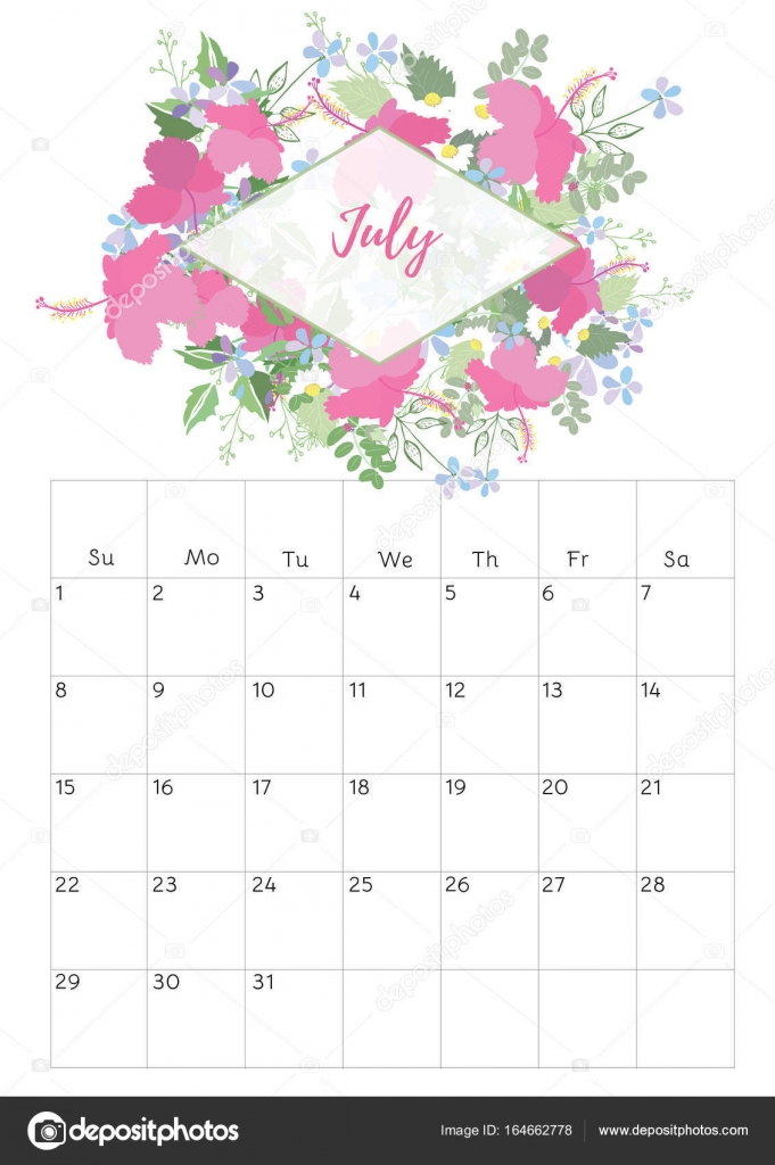 2018 Calendar Vintage : Vintage floral calendar — stock vector rasveta