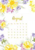 Vintage květinový kalendář 2018