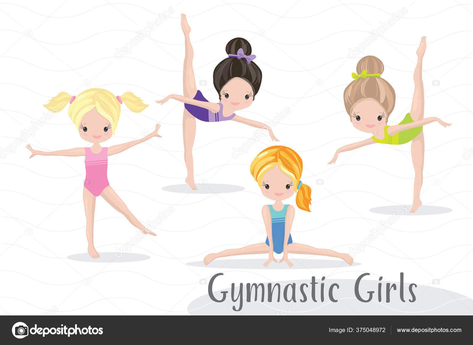 Free Vector   Girl doing gymnastics floor exercise