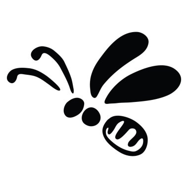 Vector Illustration Hand-drawn Silhouette Of A Bee. for your design. Suitable for design corporate identity, labels, packing. icon