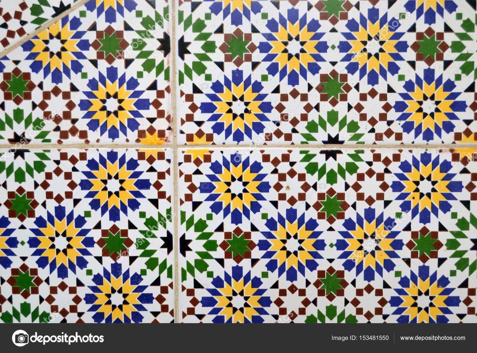 Piastrelle piastrelle di rivestimento con ornamento marocchino