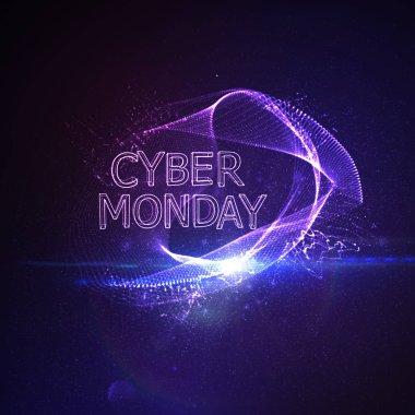 Cyber Monday sale flyer design template