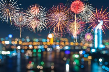 new years colorful fireworks