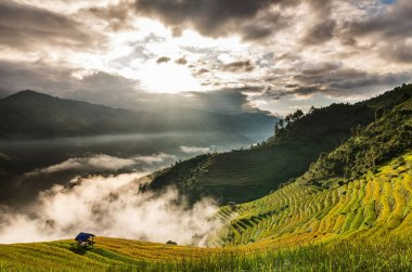 Mu Cang Chai District at sunrise time