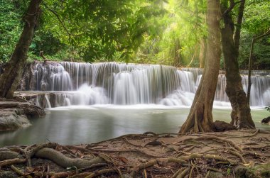 Beautiful waterfall in the deep forest
