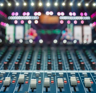 audio mixer over the Stage
